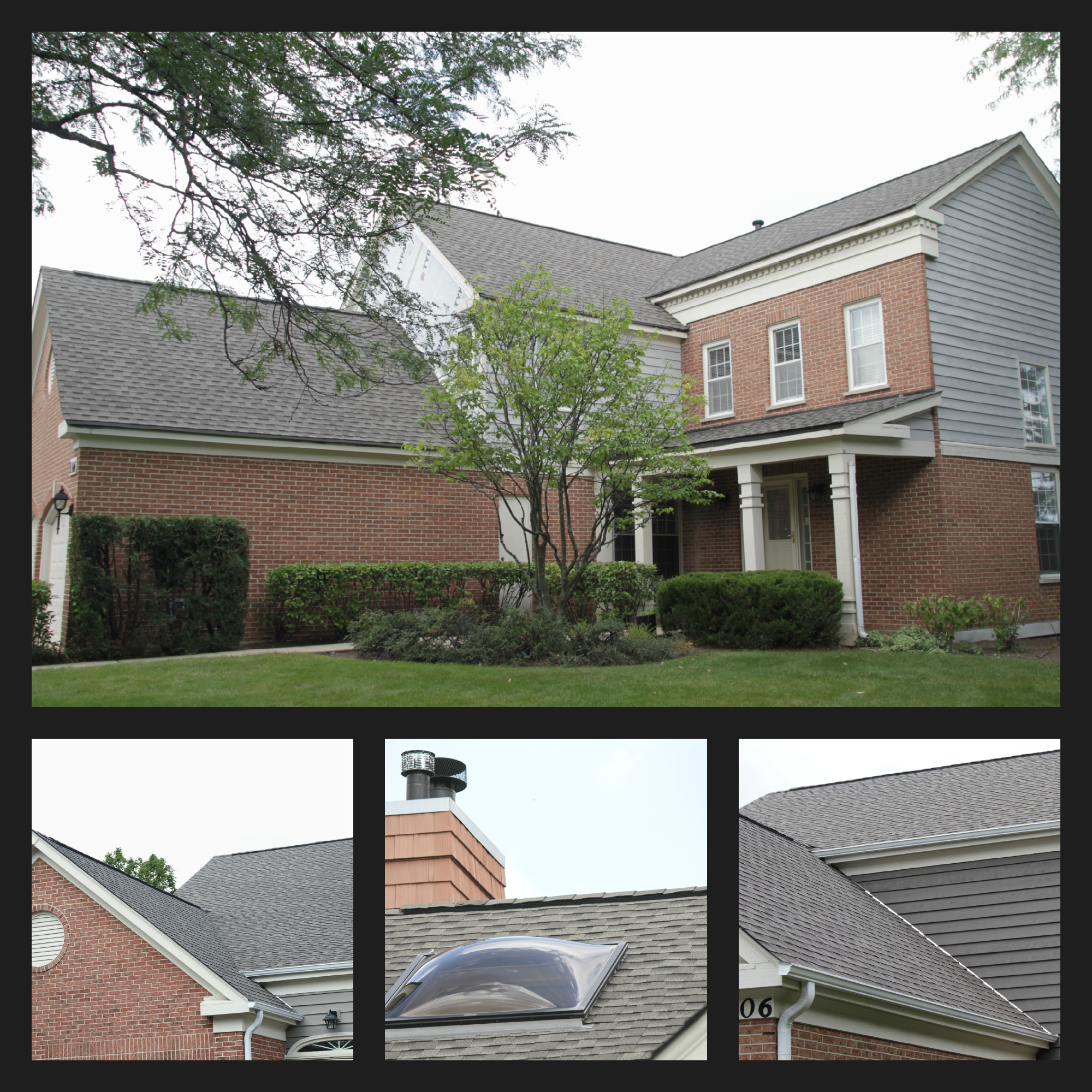 This new roof features GAF Timberline Glenview roof collage & Smart Roofing Inc. u2013 Glenview Roof Replacement SMART Roofing Inc ... memphite.com