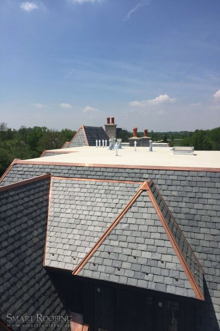 Oak Brook Copper Roof Slate Roof