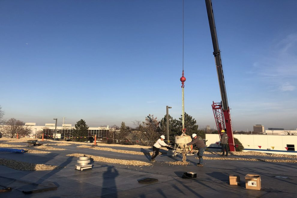 River Rock Ballasted EPDM Flat Roof Schaumburg