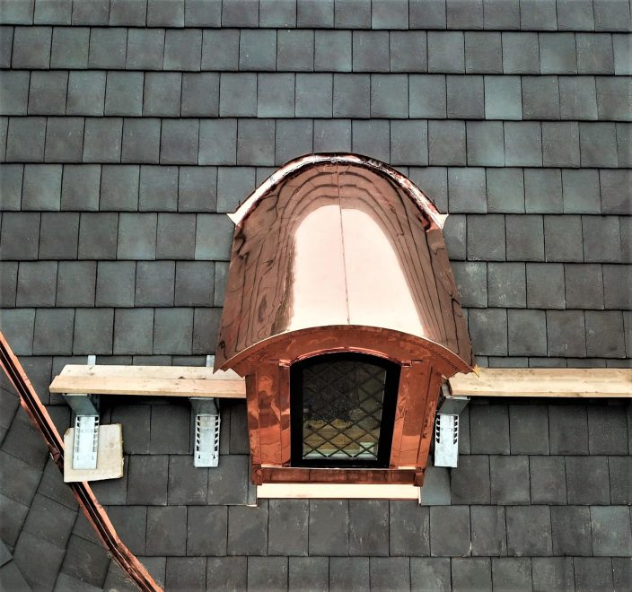 Arlington Heights Copper Dormer Roof