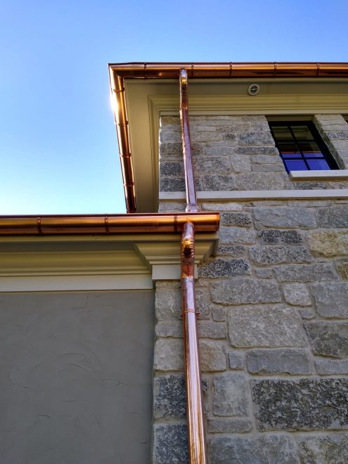 Arlington Heights Copper Gutters Downspouts