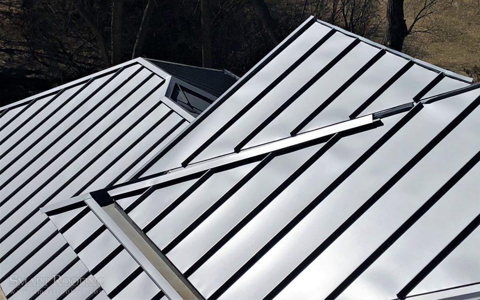 standing seam metal roof detail