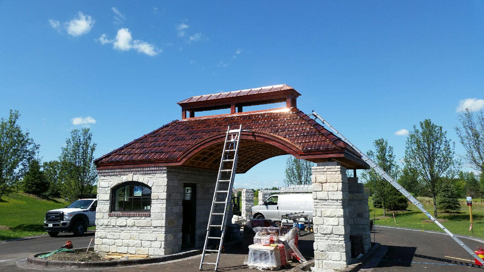 French Style Clay Tile Roof In South Barrington Smart